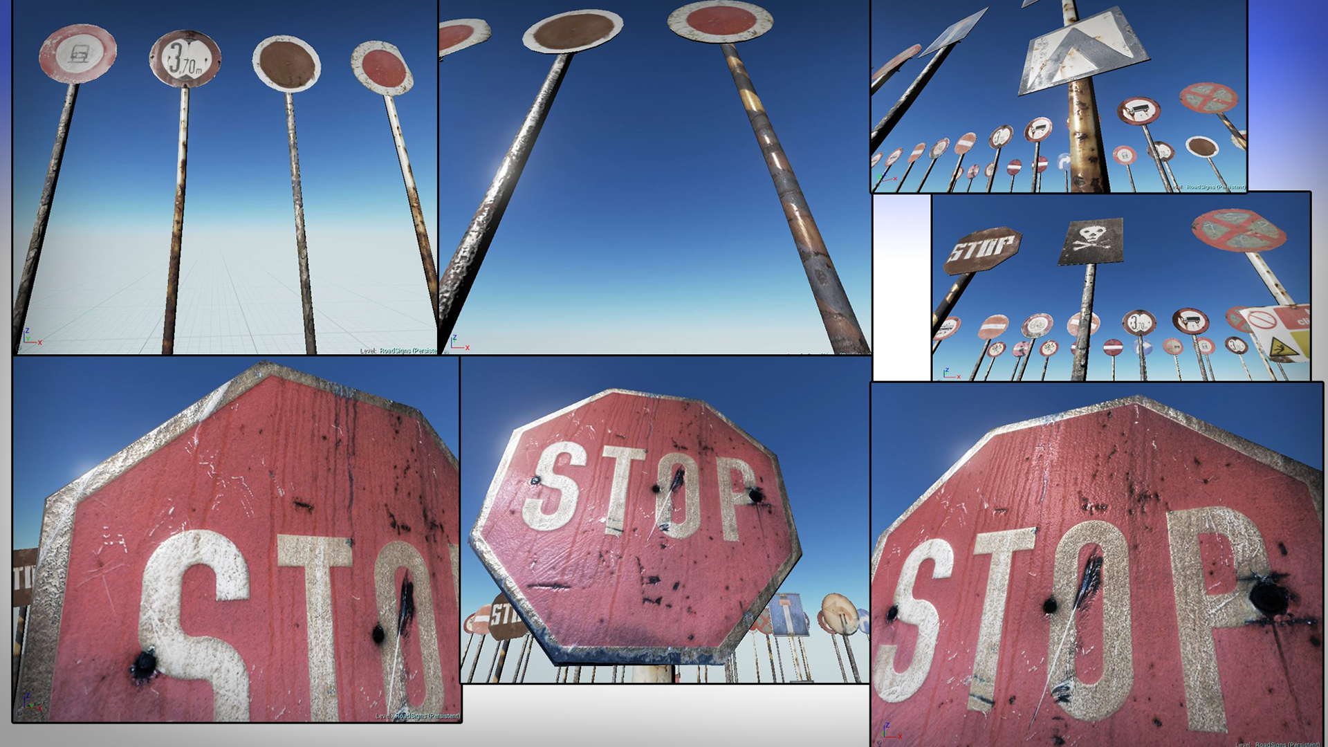 Rusty Road Signs by Werzan