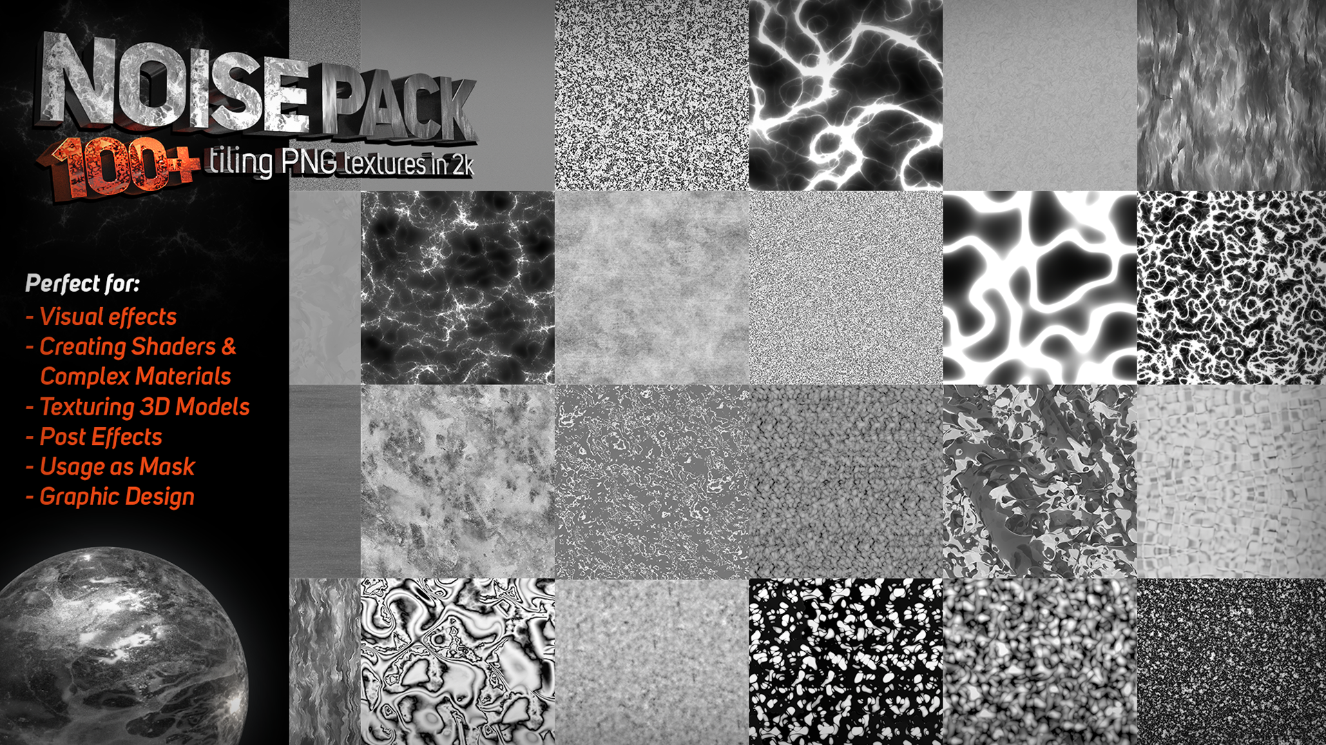 100+ Noise Texture Pack from Shrike