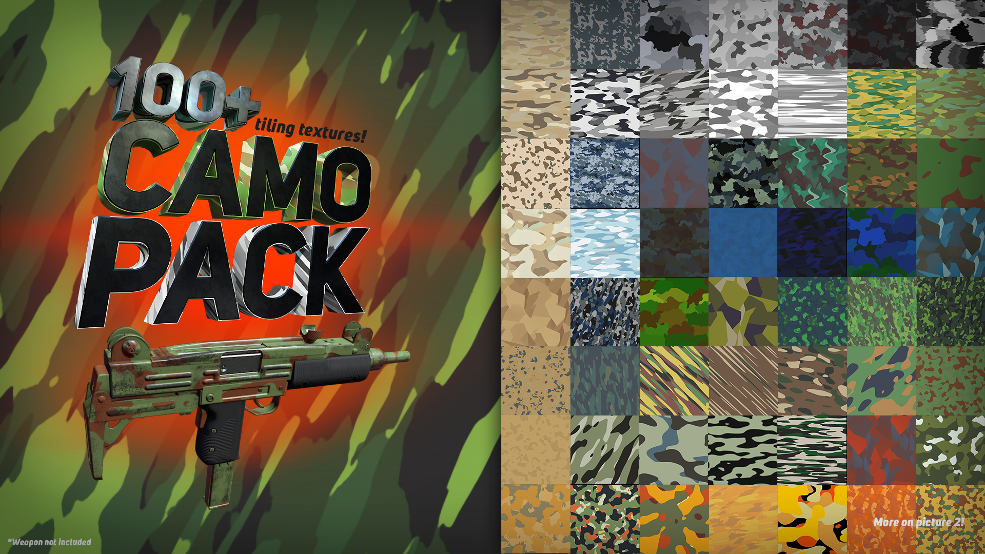 100+ Camouflage Texture Pack by Eric Krutten