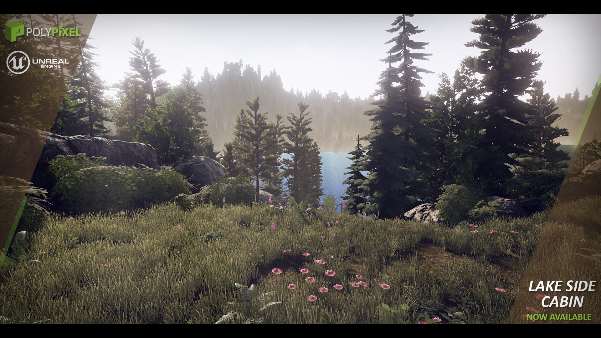 Lake Side Cabin by PolyPixel