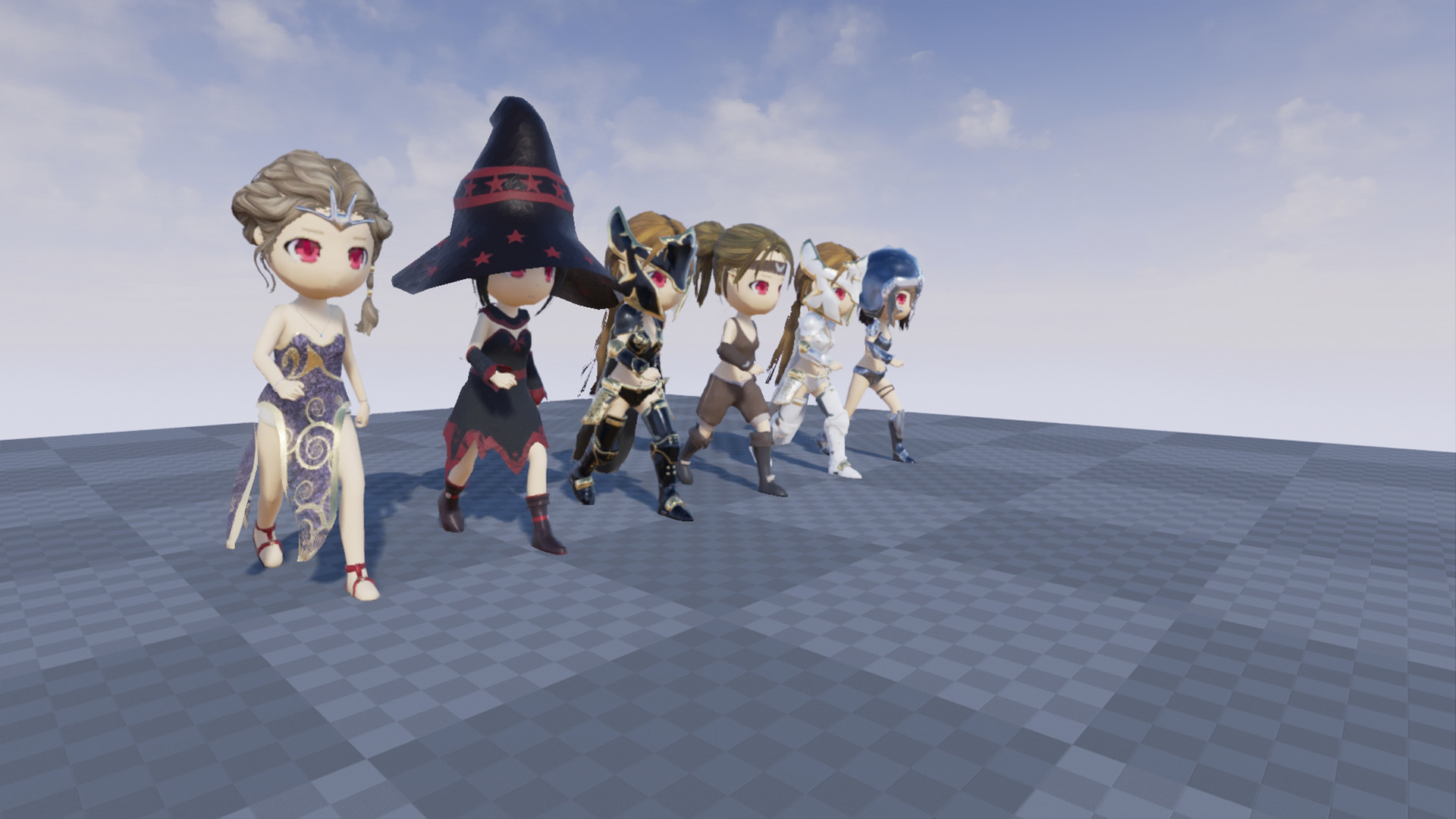 Chibi Hero Female Pack by Nopal3d