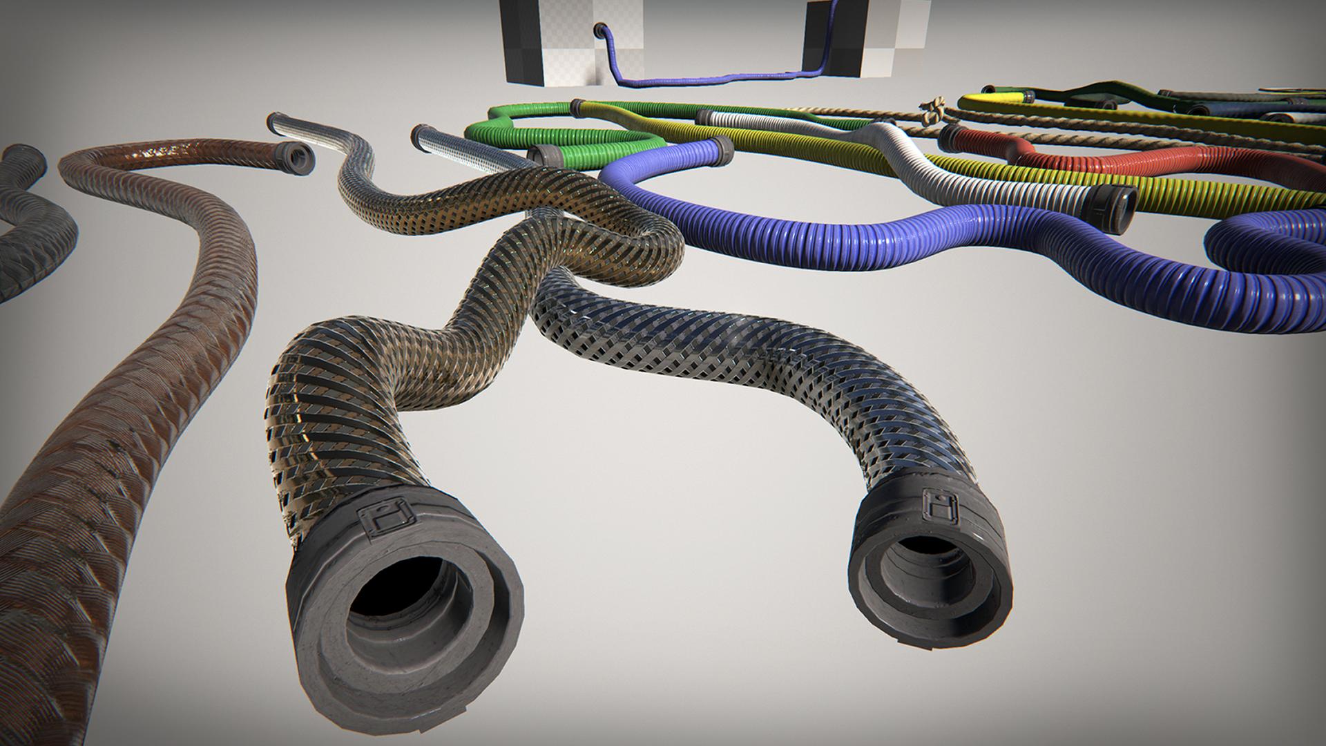 Spline: Ropes - Hoses - Sci-fi