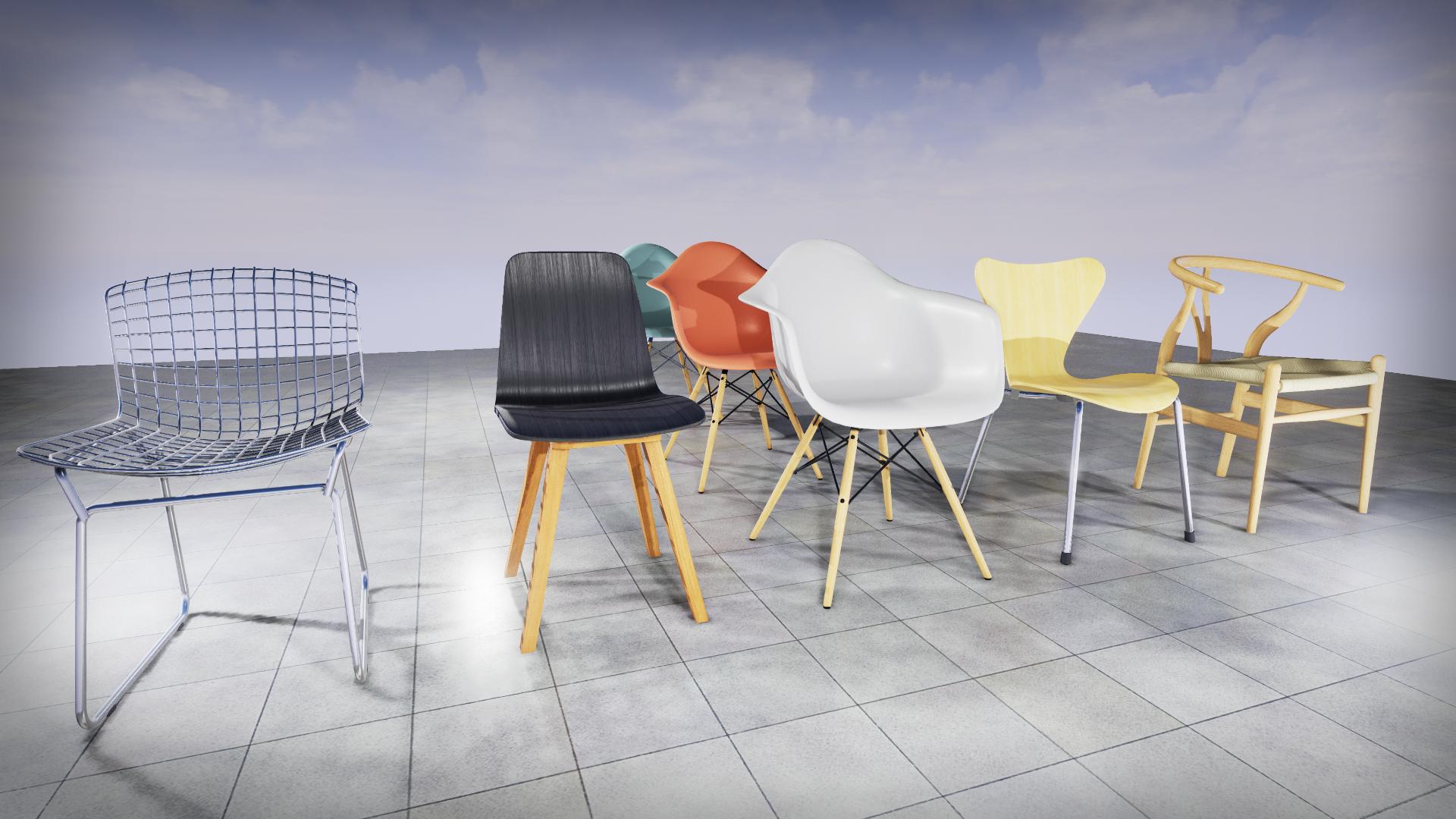 RT ArchViz Furniture - Chairs (PanDishPan)