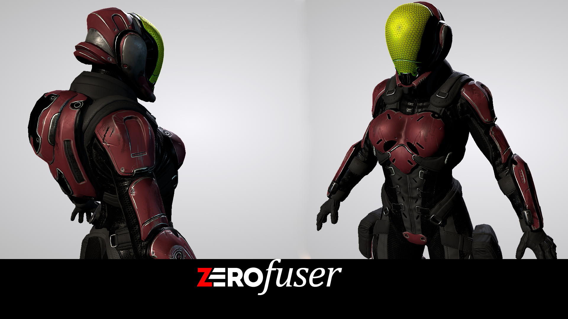 Sci Fi Female Soldier Pack by Art Activated