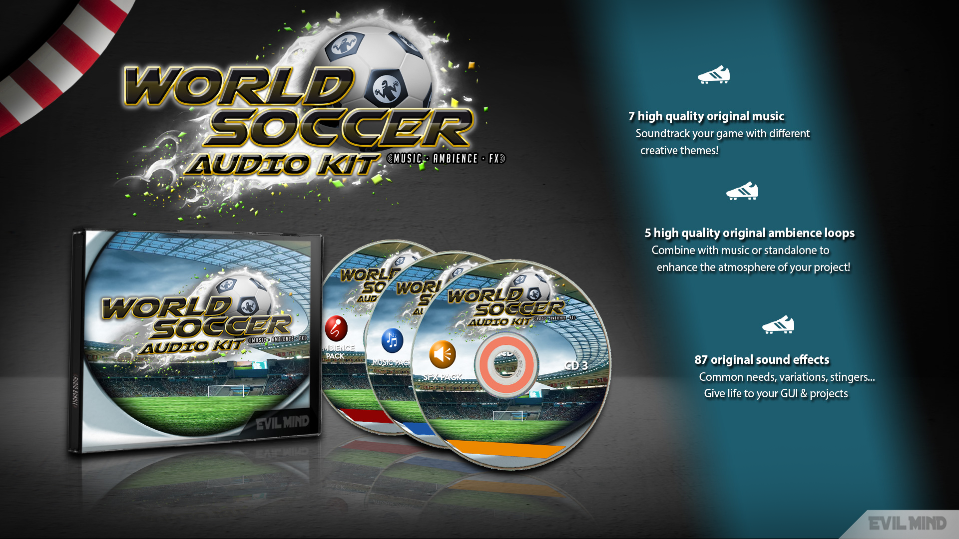 World Soccer Audio Kit by Evil Mind Entertainment