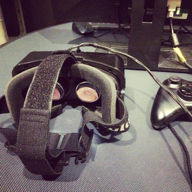 An Oculus VR headset