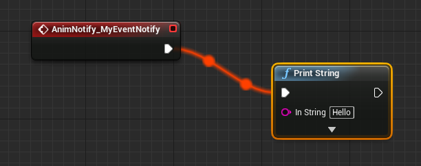 Event notify in a blueprint