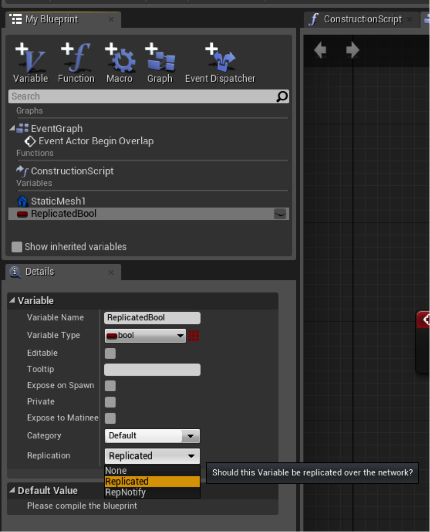 A crash course in blueprint replication replicate variables malvernweather Choice Image
