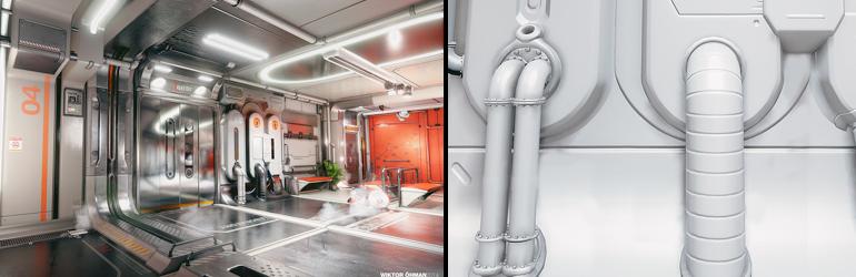 New Release on Marketplace: Sci-Fi Hallway