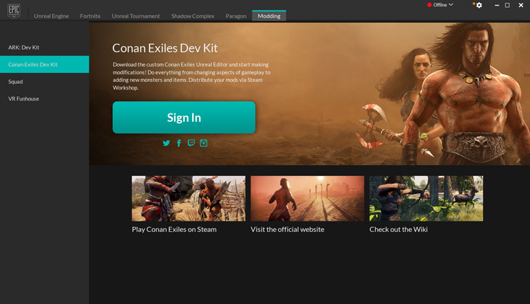 Conan Exiles mod editor released for Unreal Engine
