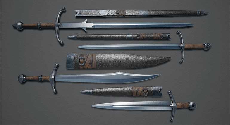 Weapons & Props: Medieval Weapons Pack 1 by H