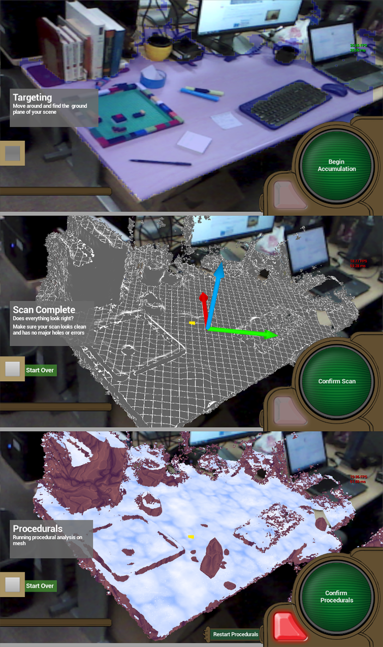 Figure 4: Augmented reality view into the world using the Scene Perception Component (coming soon)