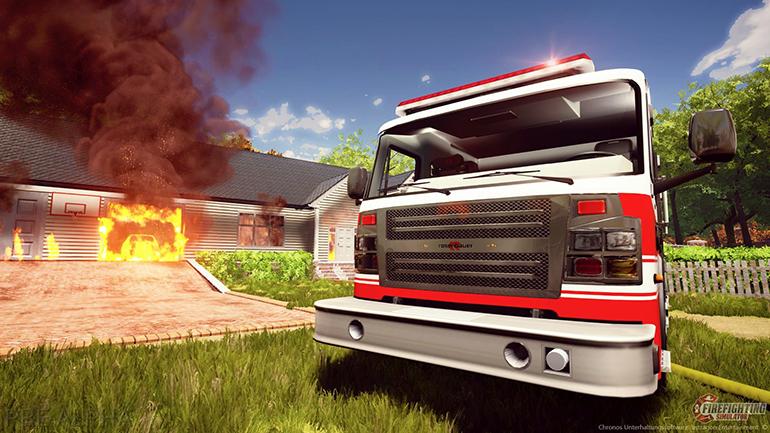 Inside the sweltering sandbox of Firefighting Simulator