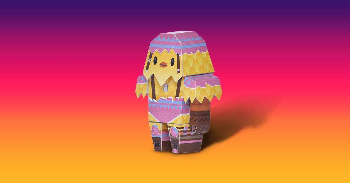 Minifigura plegable de Cocómandante