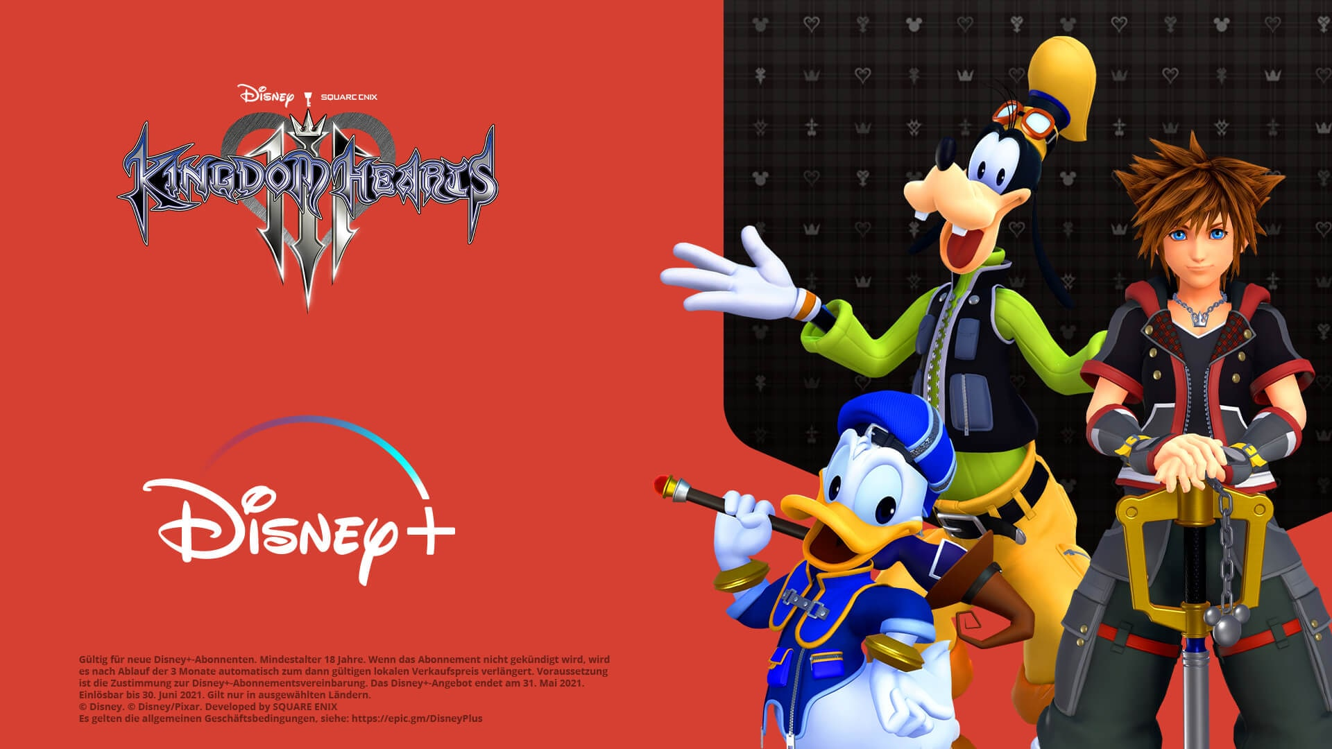Get 3 months of Disney+ free when you buy KINGDOM HEARTS III on Epic Games Store