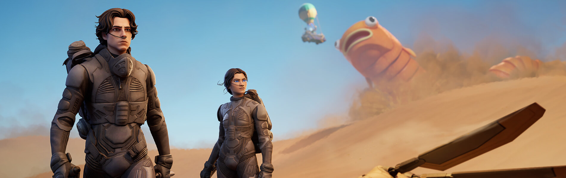 Dune Paul Atriedes and Chani Arrive in Fortnite