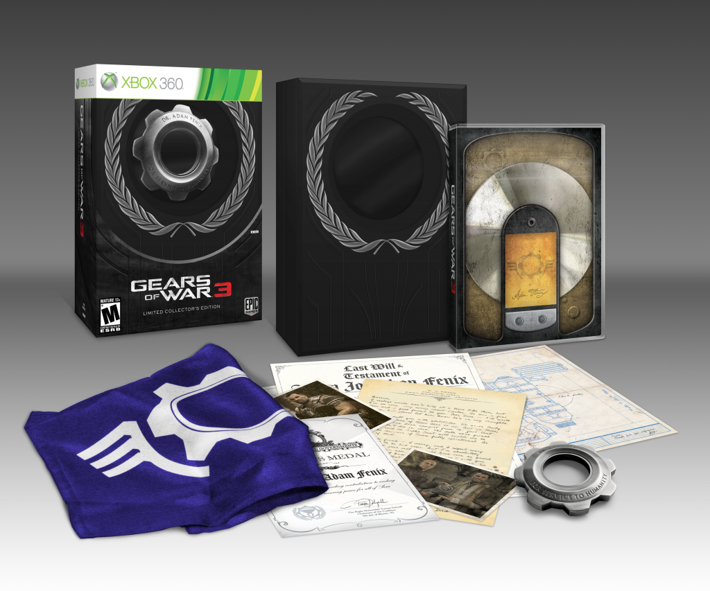 Gears of war 3 epic edition & limited collector's edition contents.