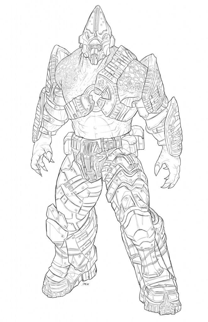 Gears of war judgment cyclops coloring pages to color for Locust coloring page