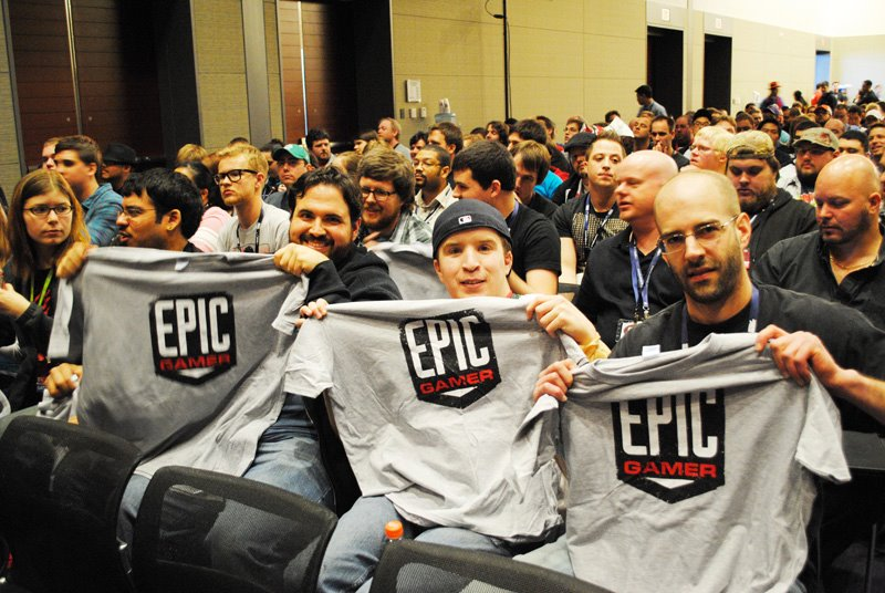 Epic Games PAX East Panel Epic Gamer Shirts