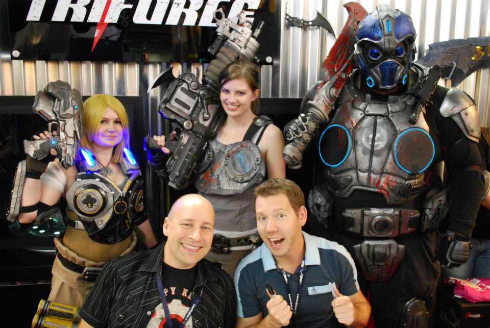 Epic Games Cosplay Meetup Mike Capps Cliff Bleszinski Gears of War