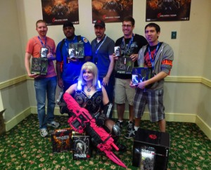Team Hotel Winners of the Gears 3 Tournament at Escapist Expo with PixelKitty