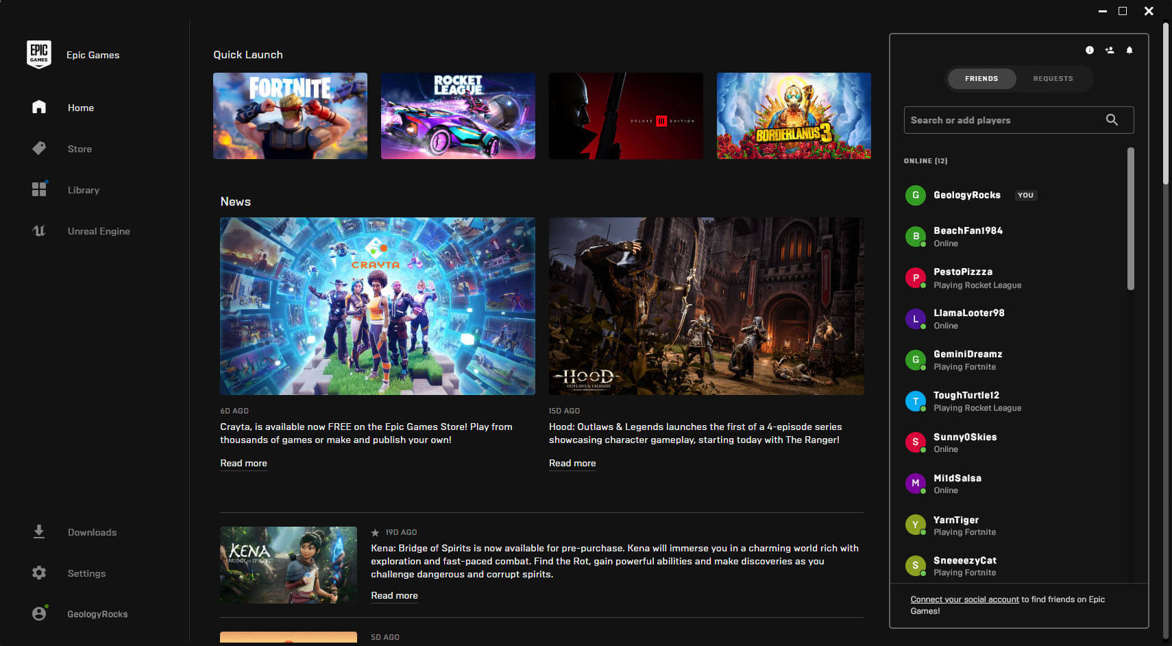 Epic Games Store Launcher