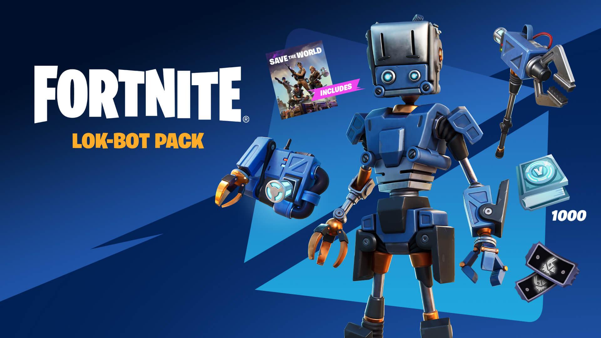 Fortnite Save the World Lok-Bot Pack EN