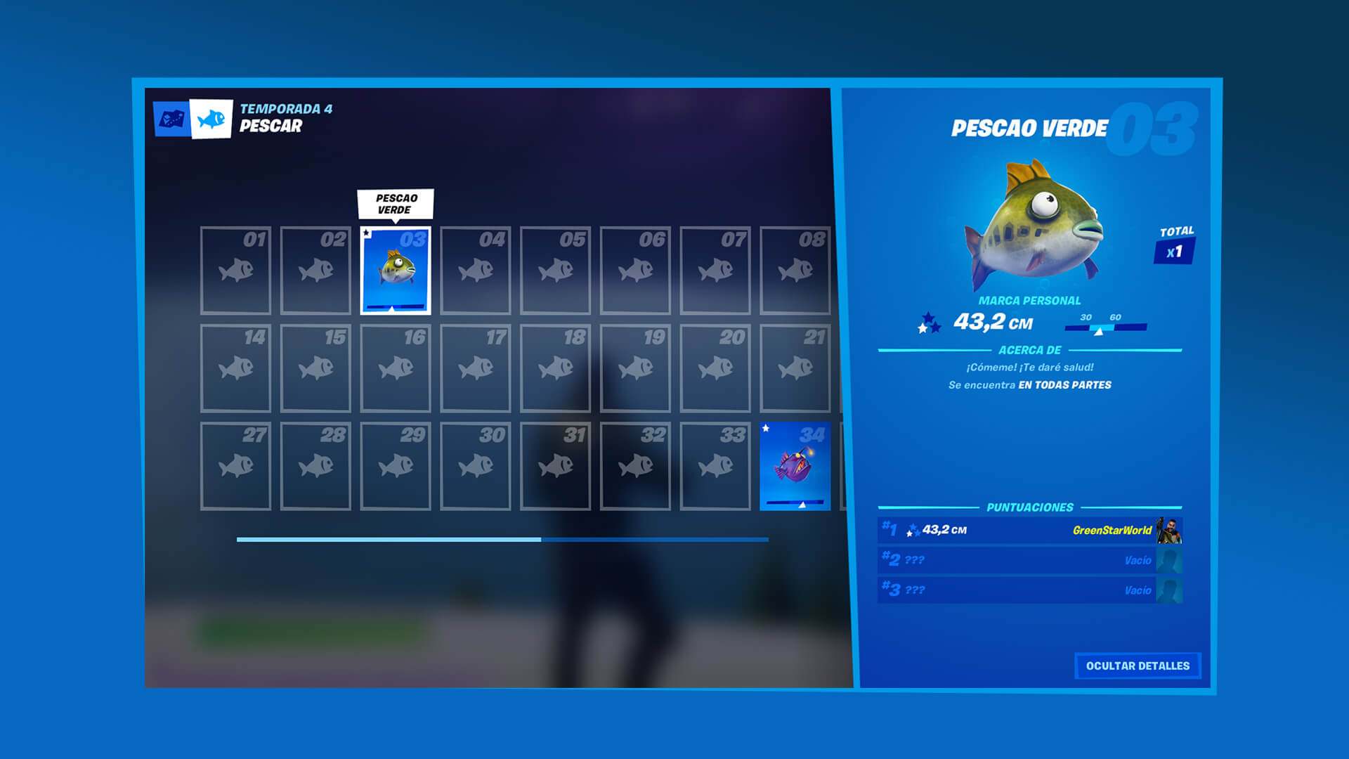ES ES Fortnite Fishing Collection Book