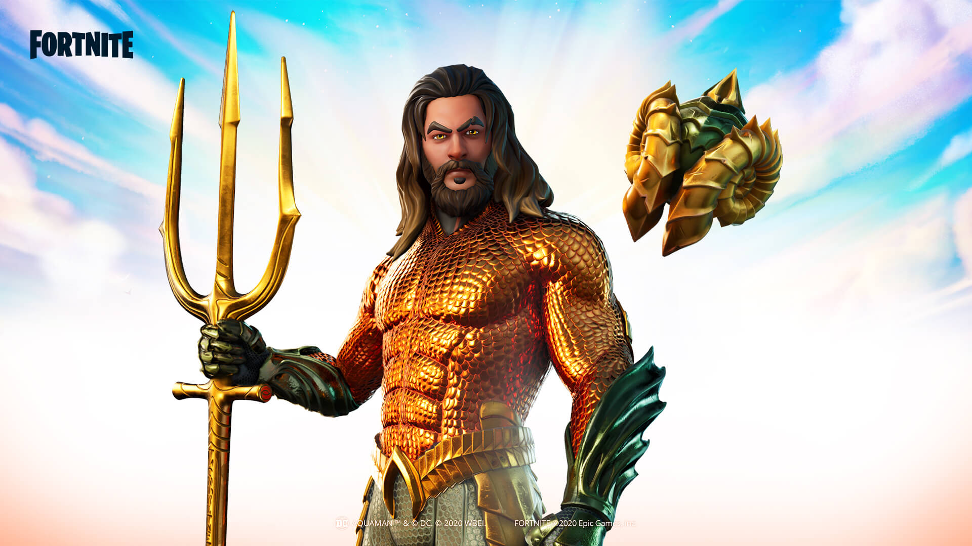Fortnite Aquaman Supreme Shell Back Bling And Trident