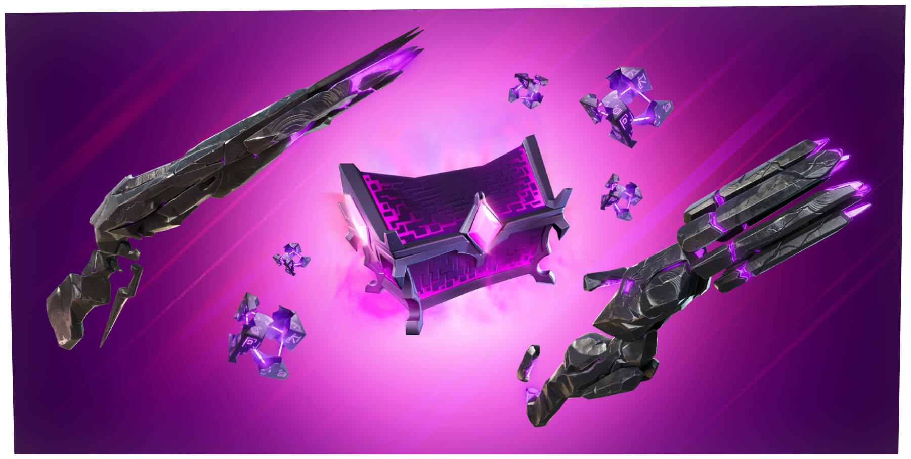 Fortnite Sideways Weapons, Cubes and Chest
