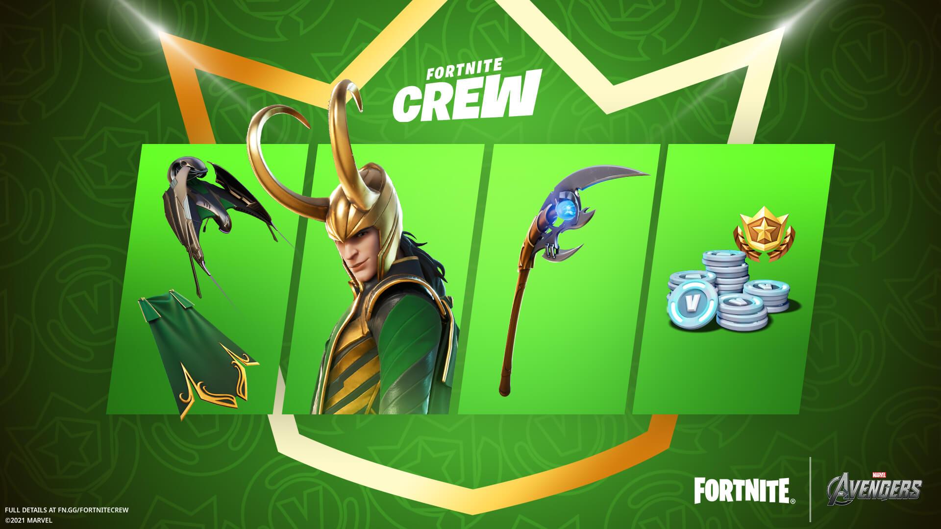 Loki pack in Fortnite Crew