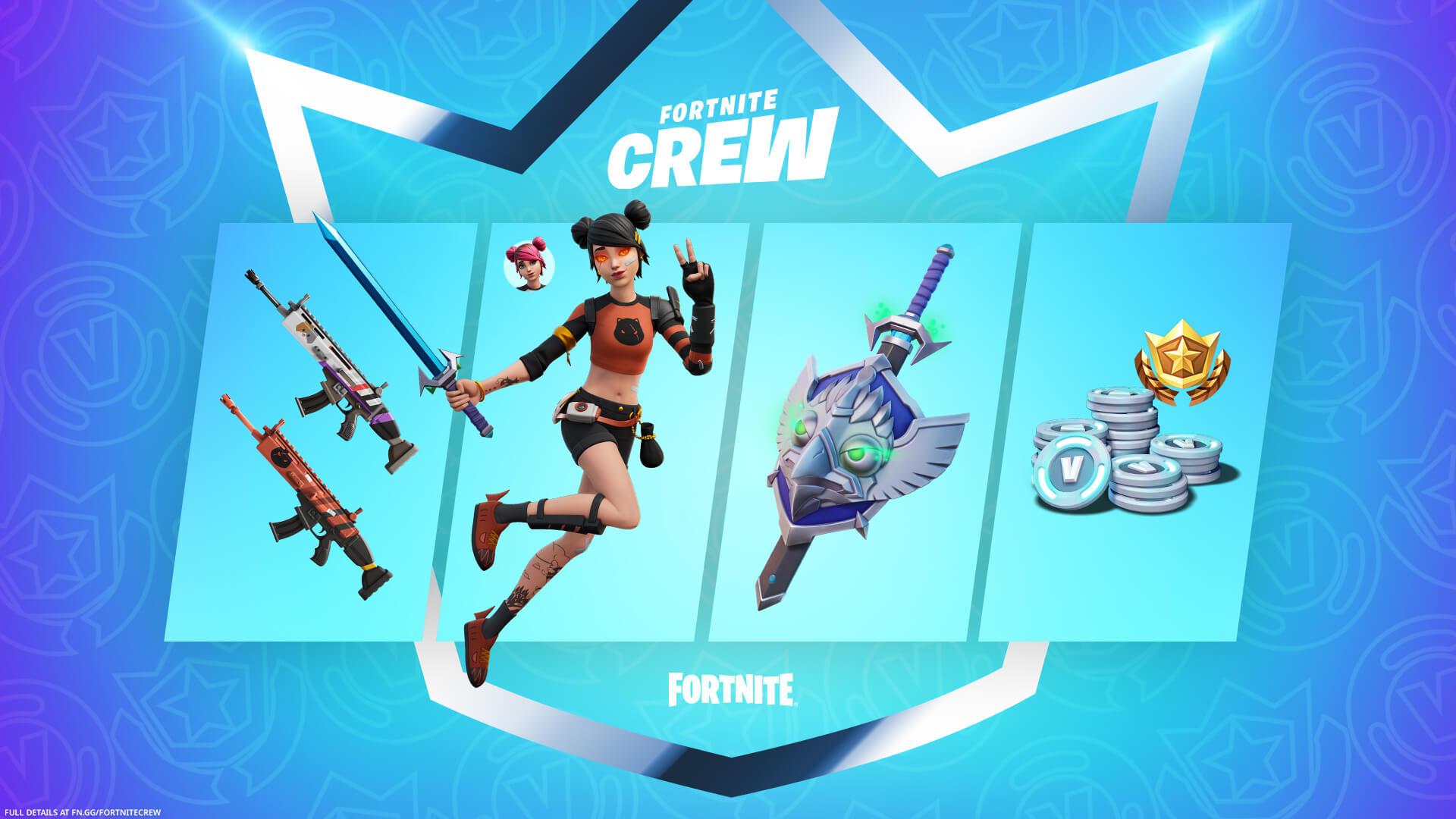 Fortnite Crew Summer Skye Items