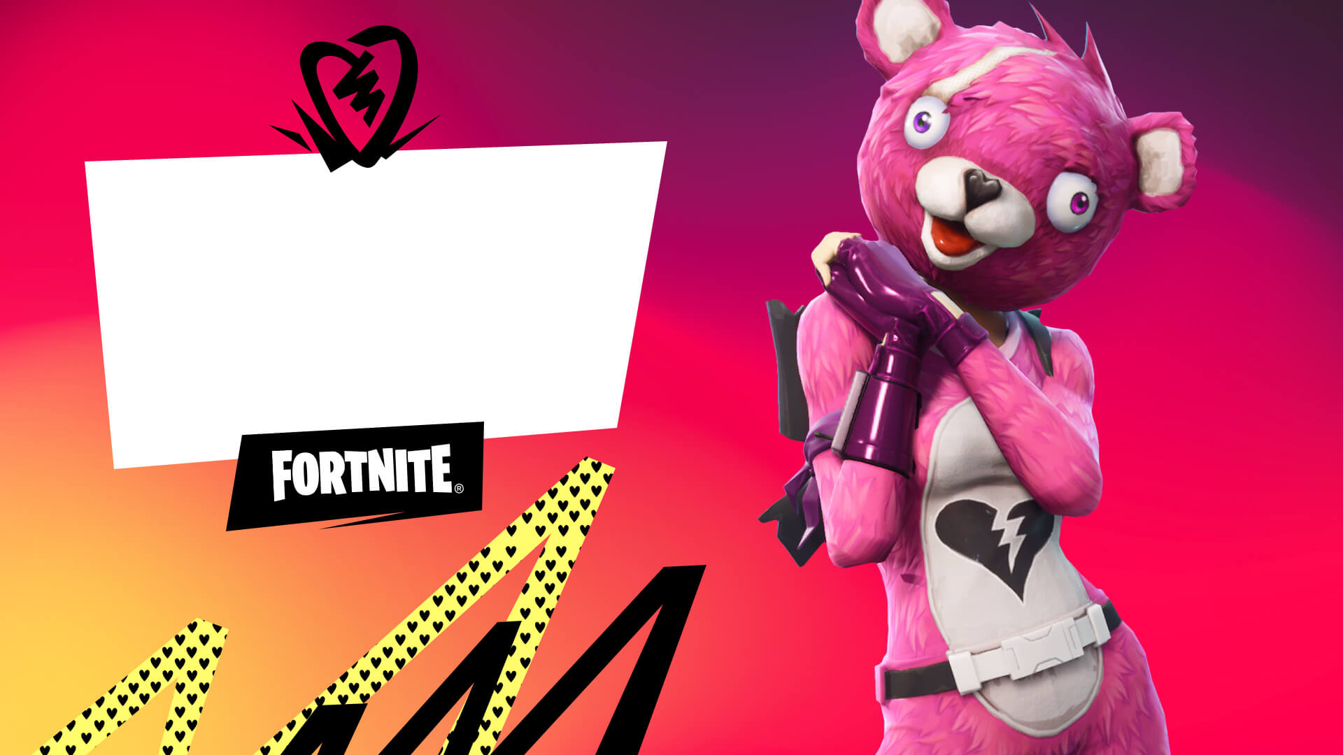 Fortnite Cuddle Team Leader Valentines Card