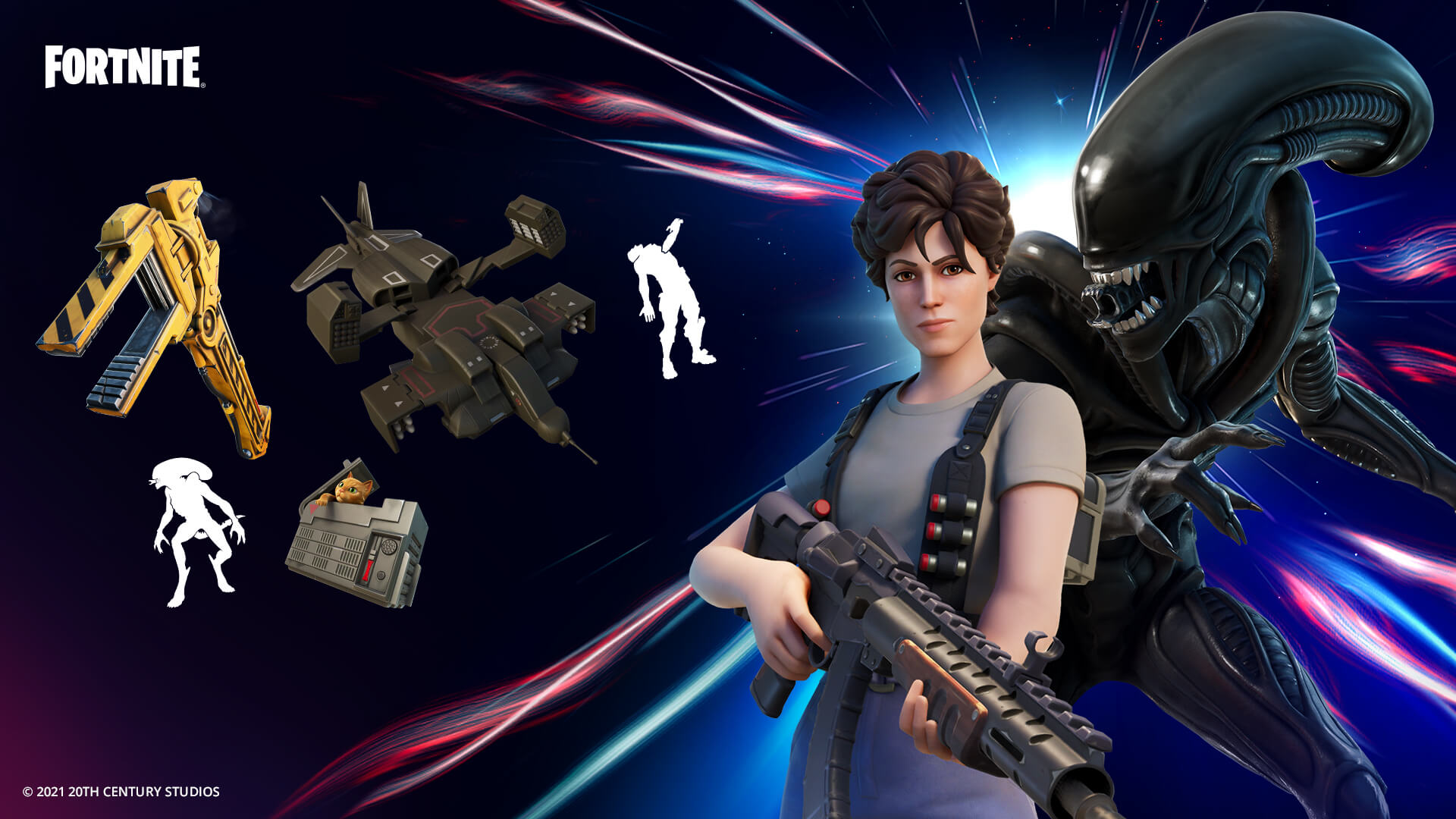 Fortnite Ellen Ripley And Xenomorph