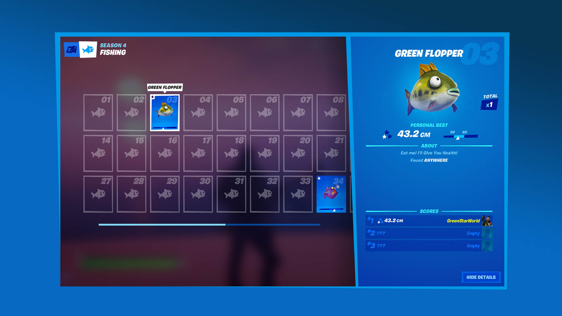 Fortnite Fishing Collection Book