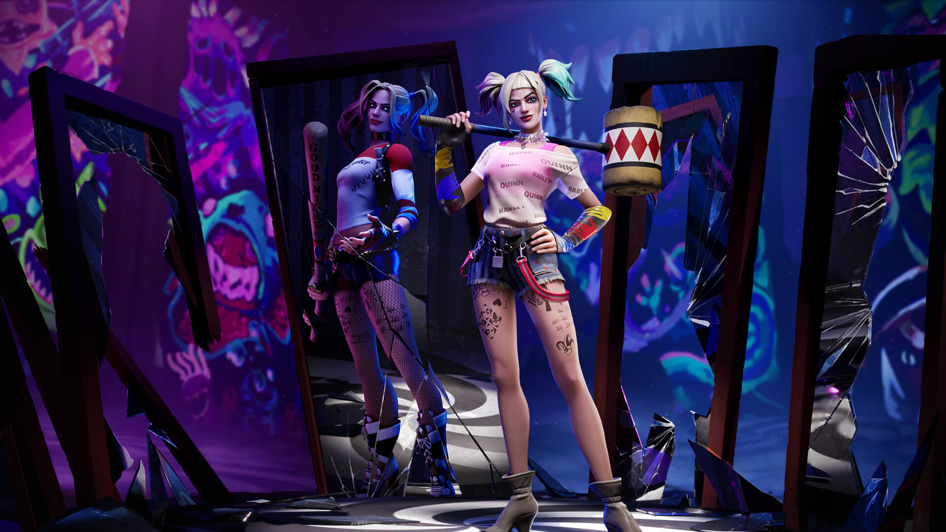 Fortnite Harley Quinn Outfit And Pickaxes