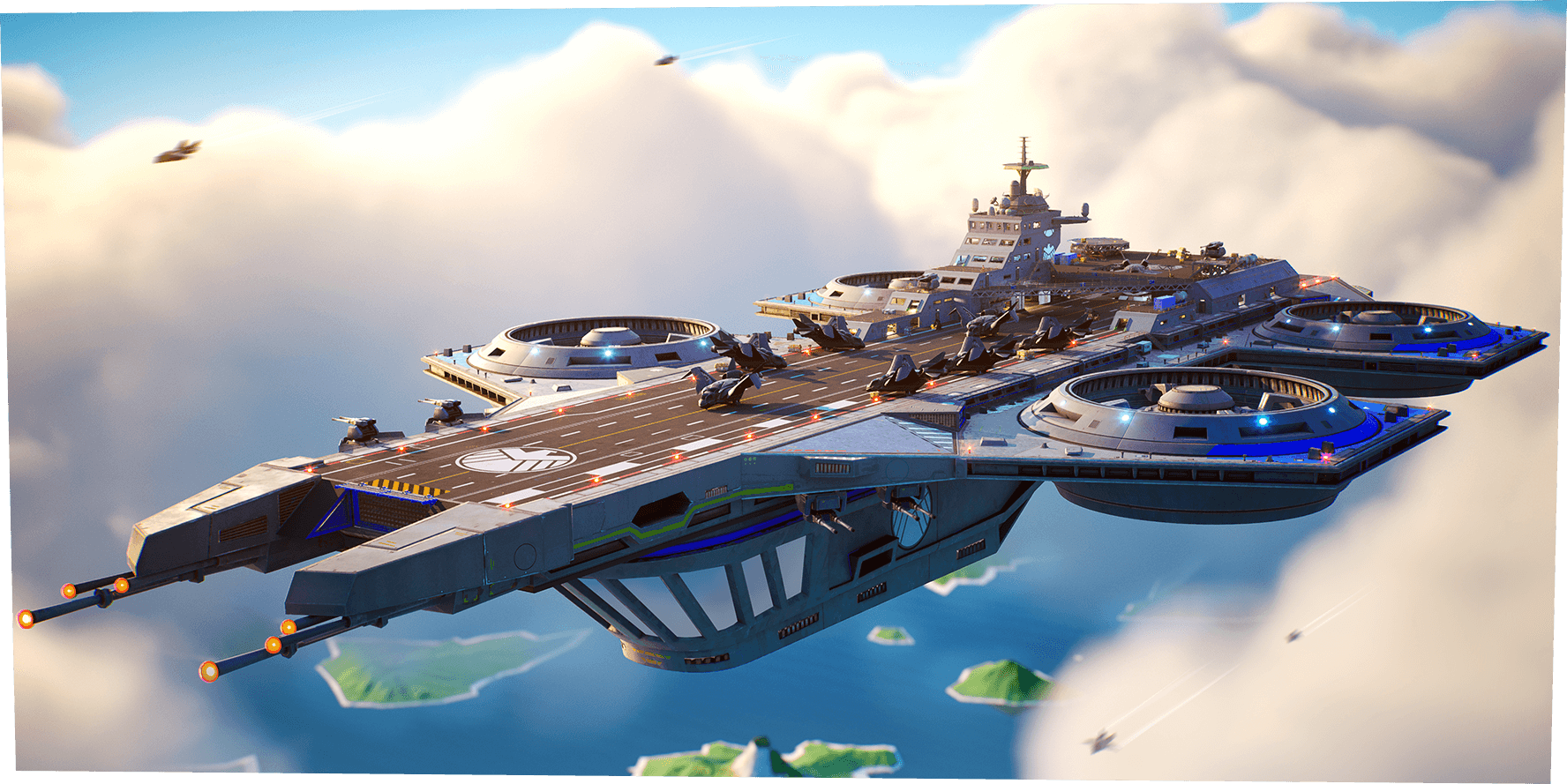 Helicarrier in Fortnite