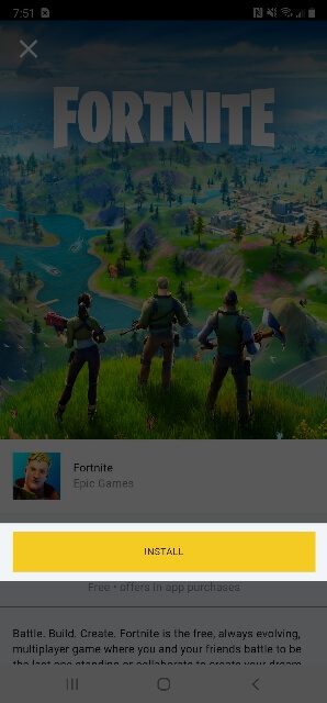 Fortnite Installation On Android 298x640 1606937474490
