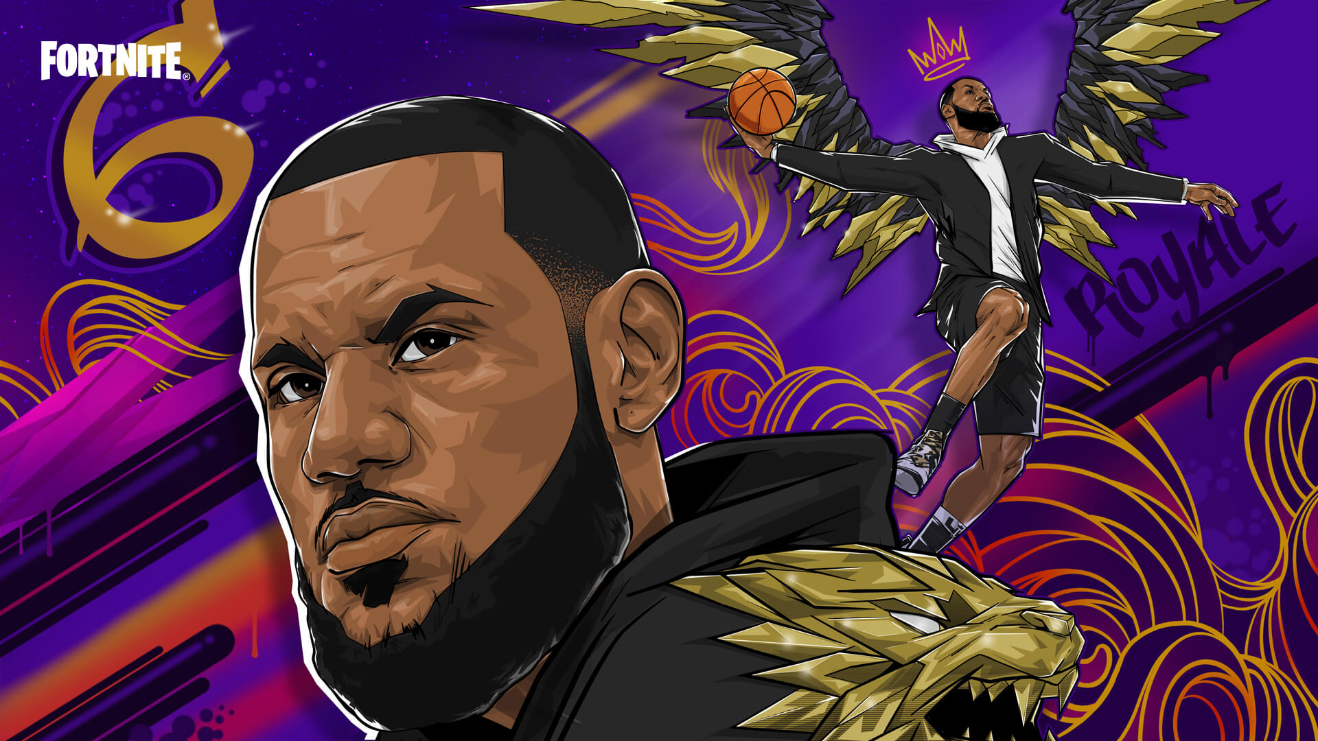 Fortnite Lebron James Courts In Session Loading Screen