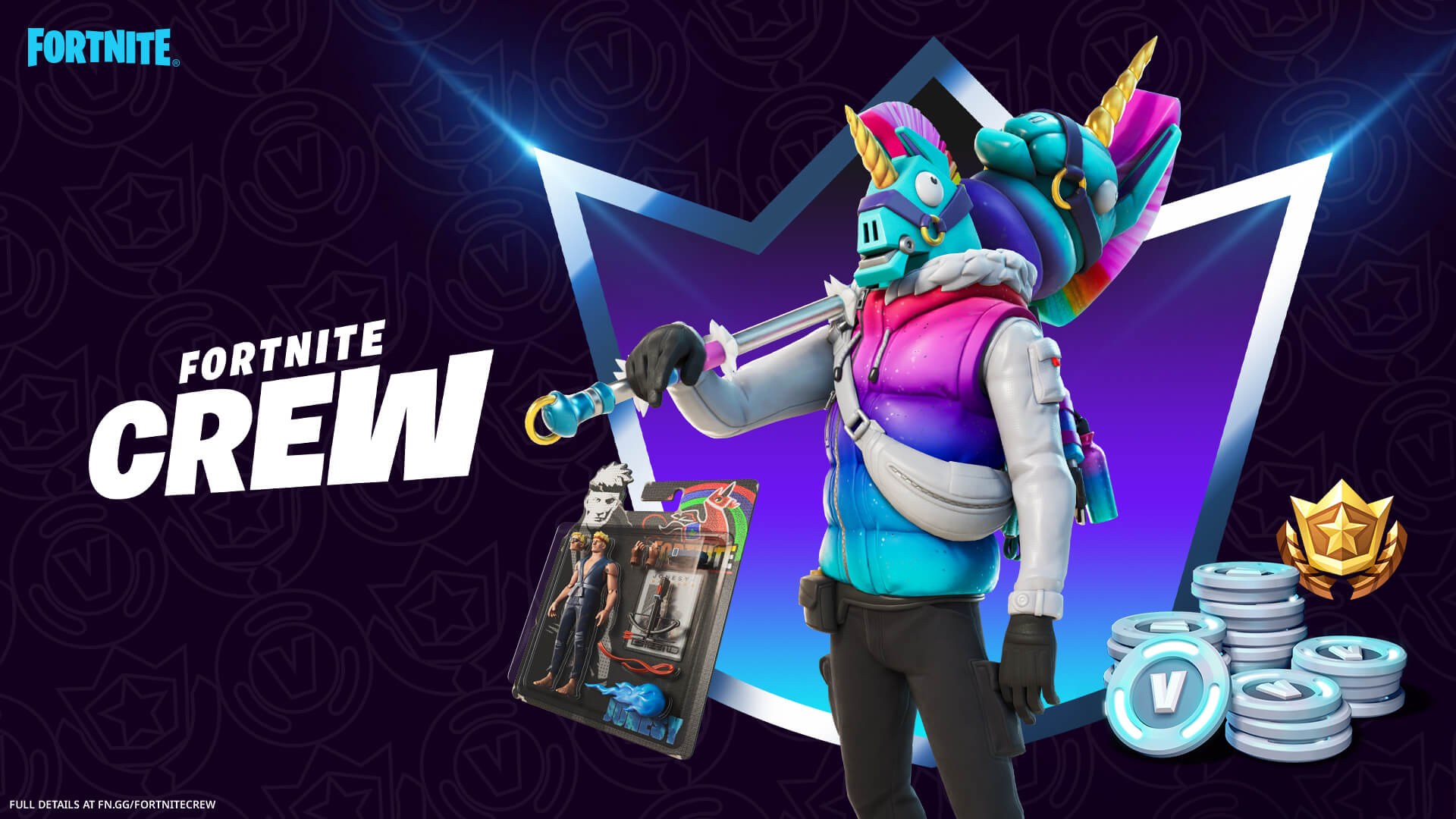 Fortnite March Crew Pack And Blister Pack Back Bling
