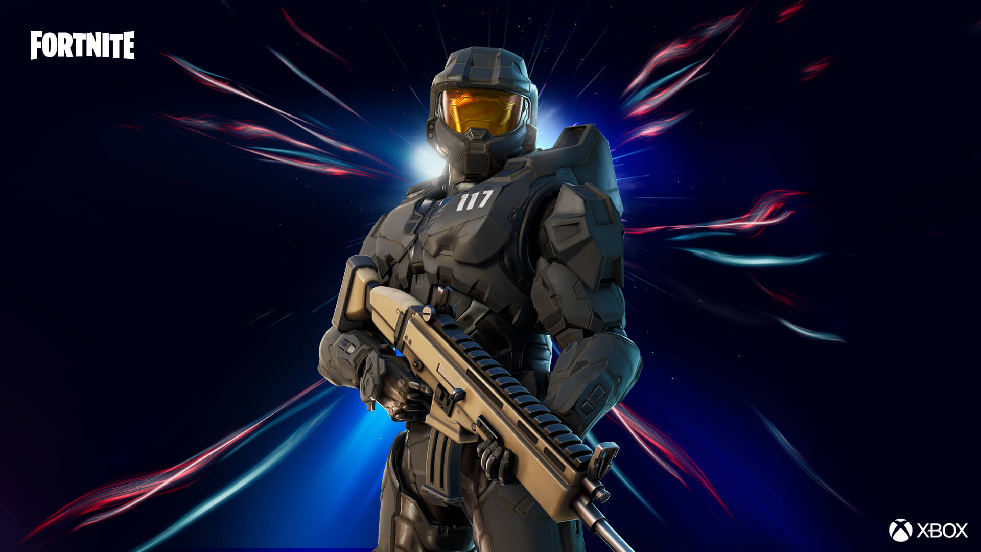 Fortnite Master Chief Matte Black Outfit Style