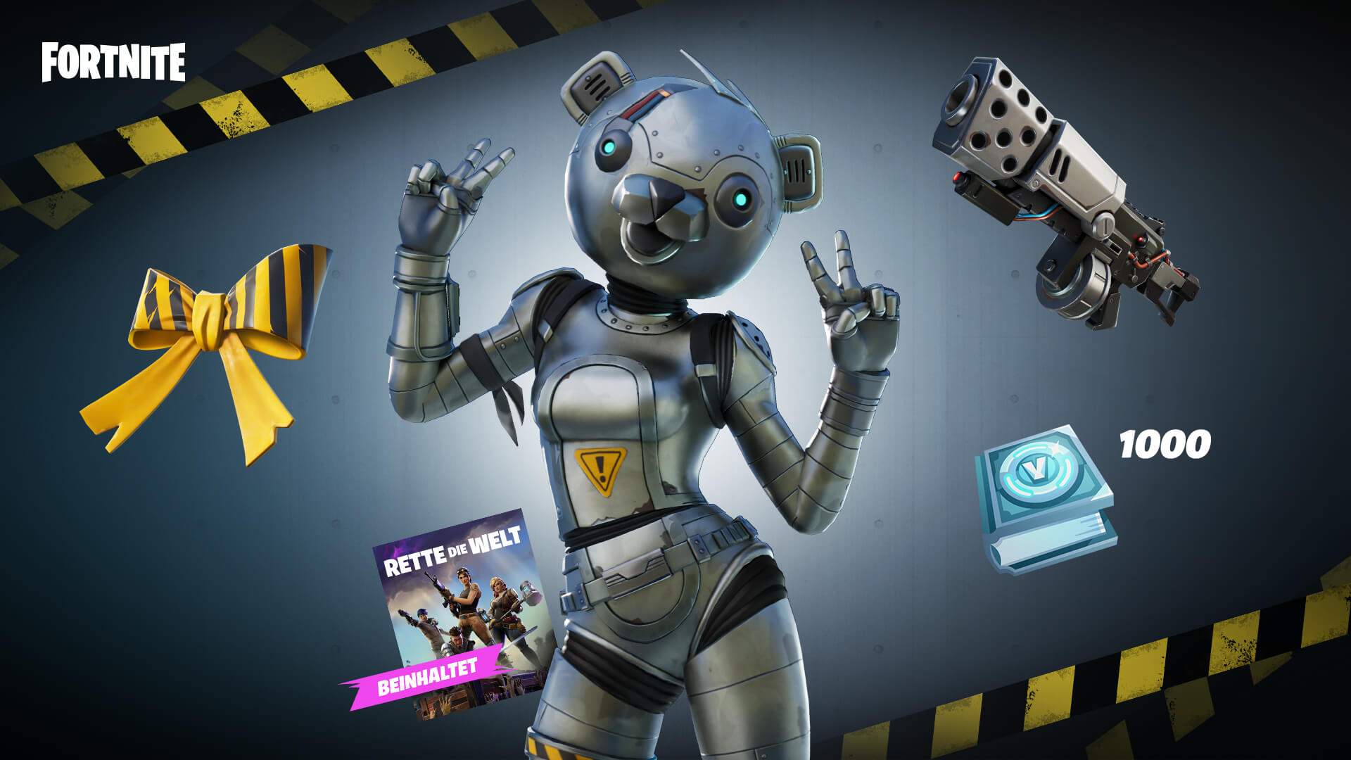 Fortnite Metal Team Leader Pack DE