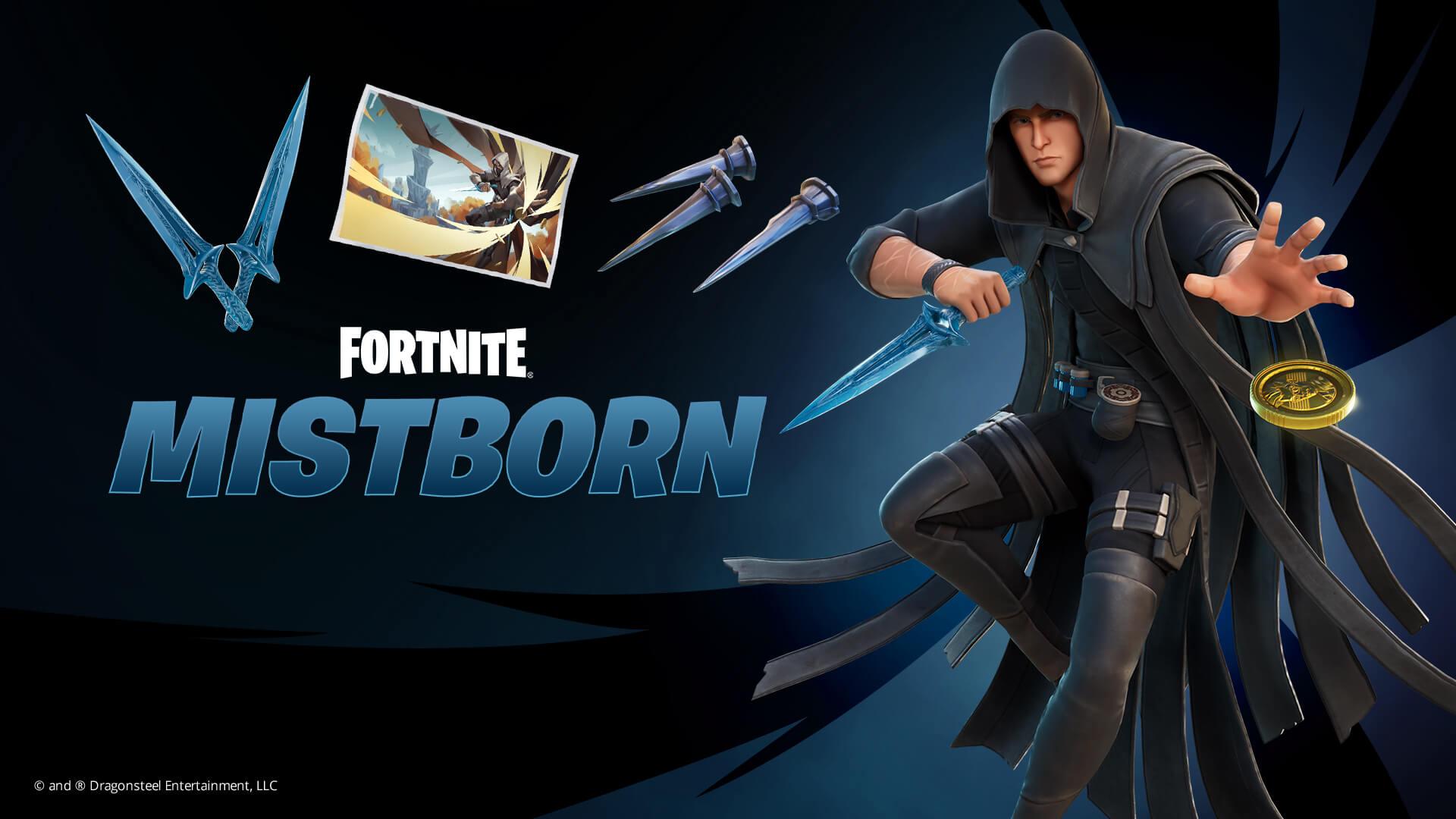 Fortnite Mistborn and Kelsier Items