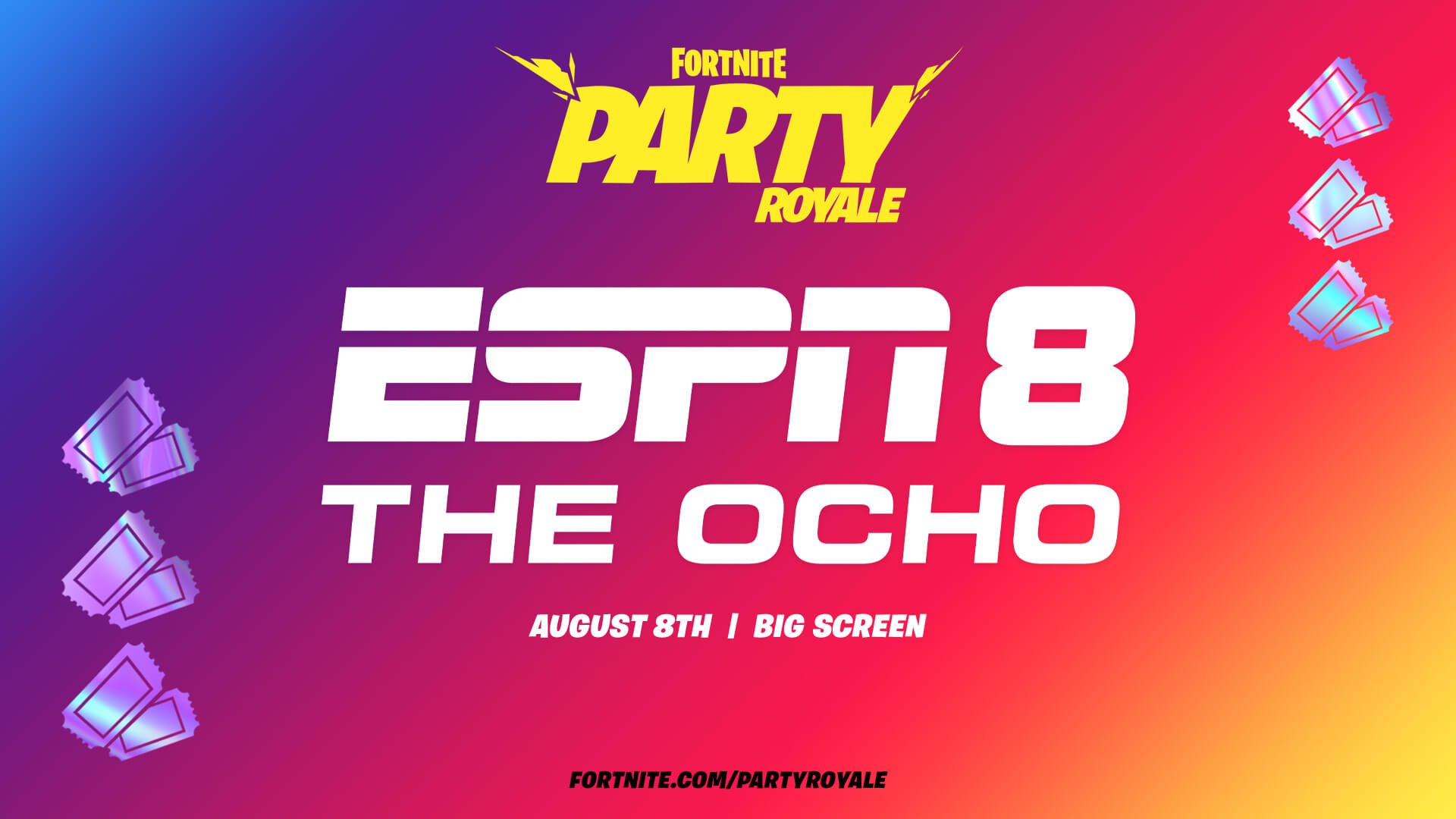 Fortnite Party Royale And ESPN 8 The Ocho