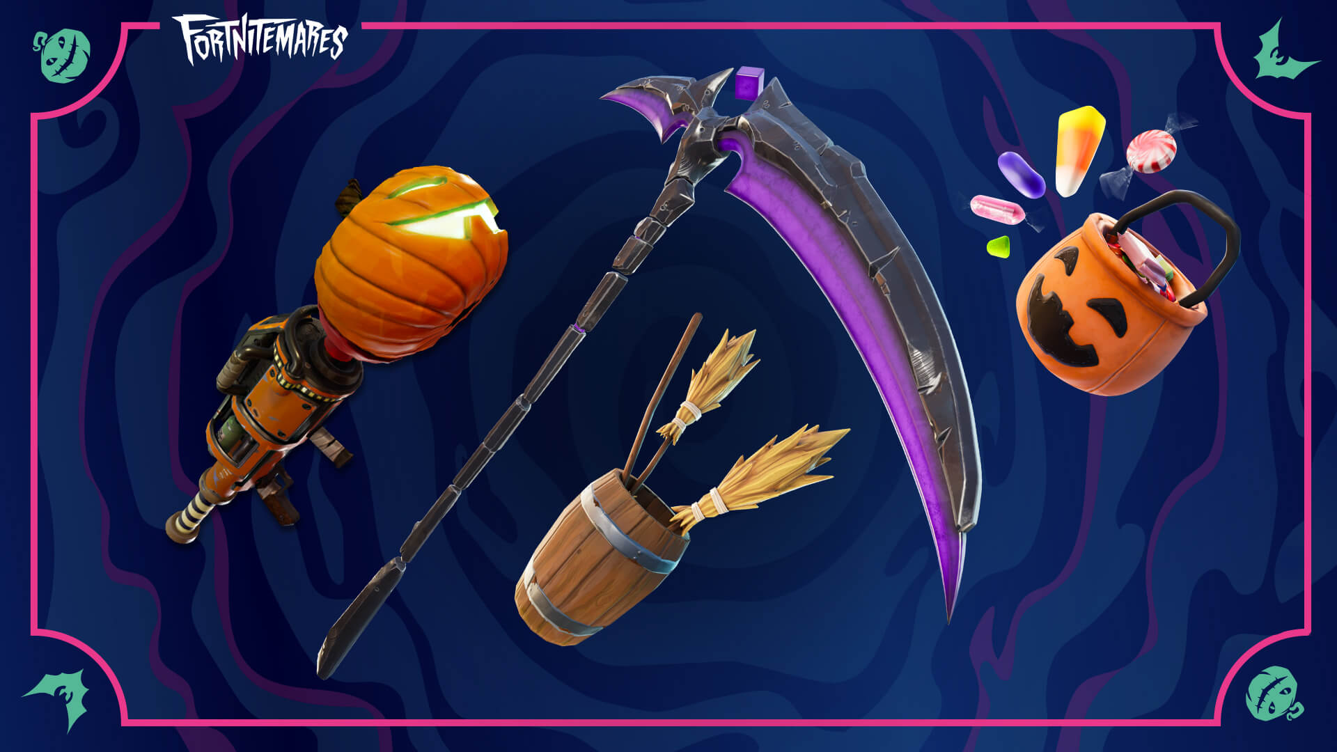 Fortnite, Sideways Scythe, Witch Brooms and thePumpkin Rocket Launcher