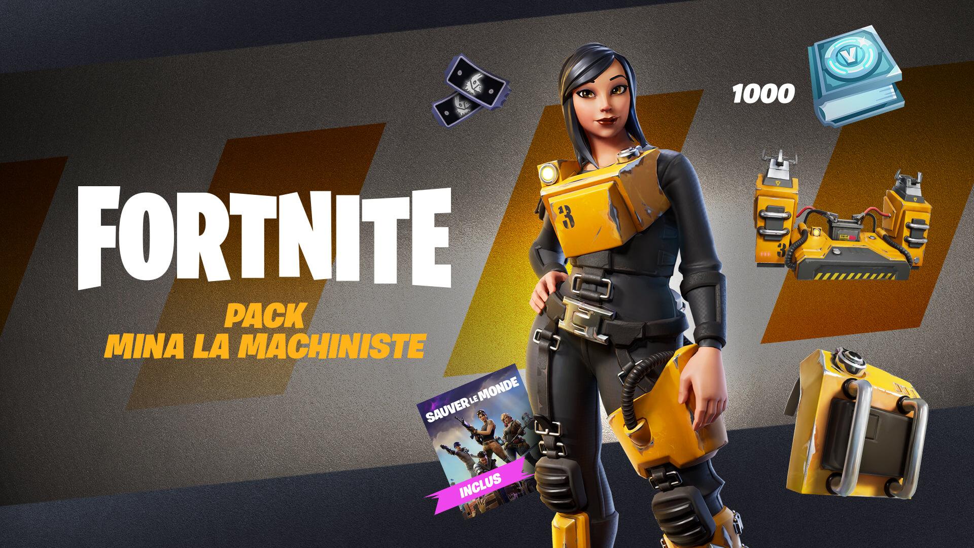 Fortnite Save The World Machinist Mina Pack FR
