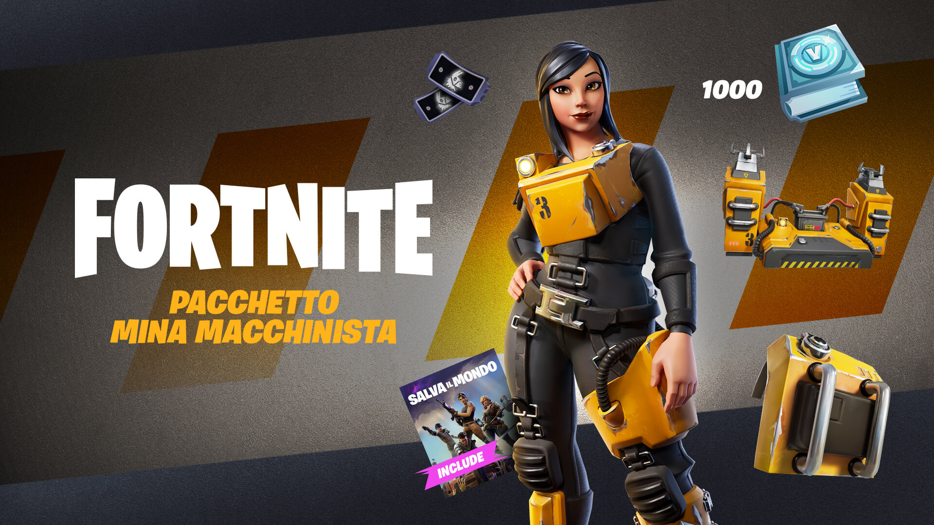 Fortnite Save The World Machinist Mina Pack IT