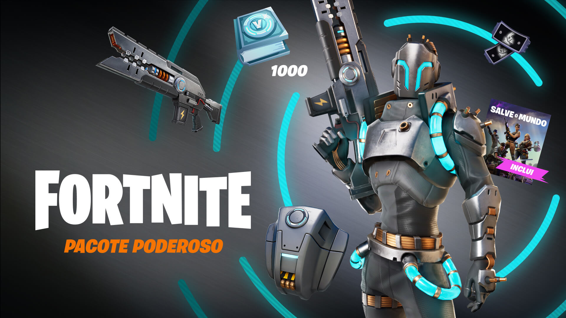 Fortnite Save The World Powerhouse Pack Pt Br