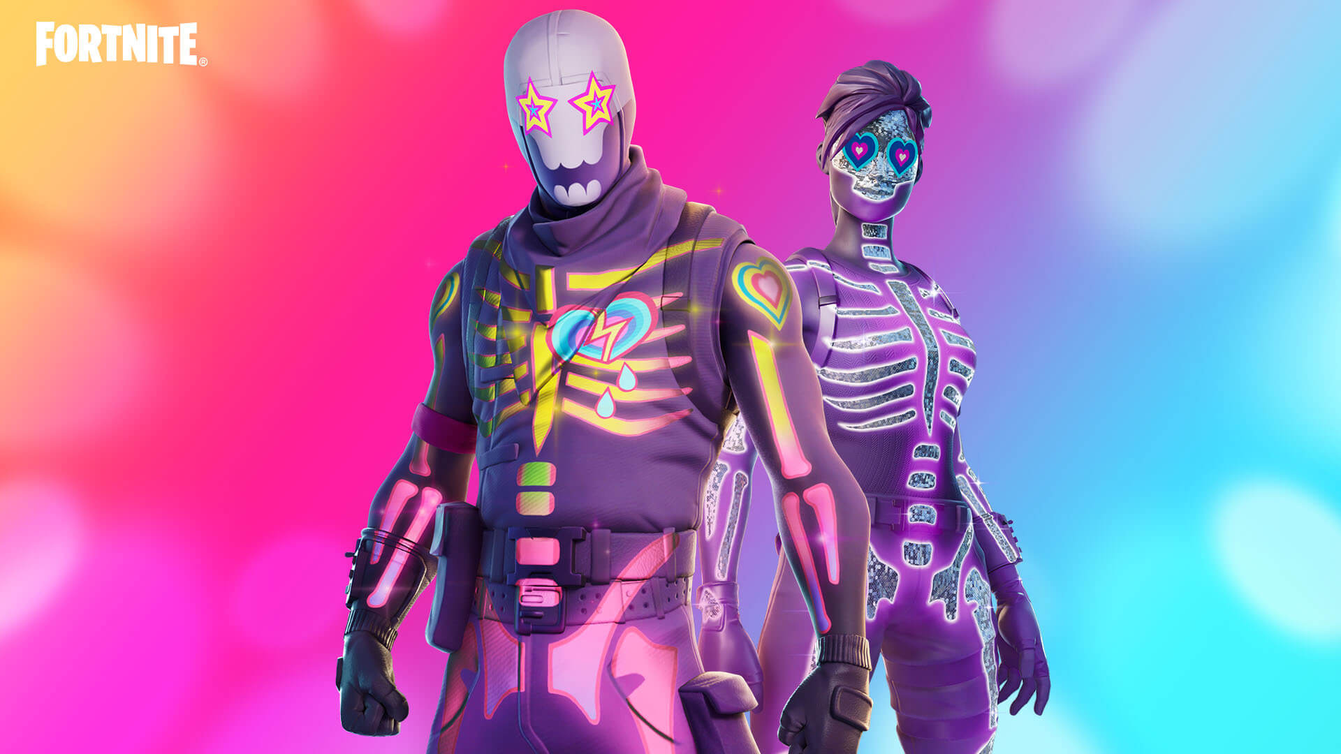 Fortnite Sparkle Skull And Party Trooper Variants