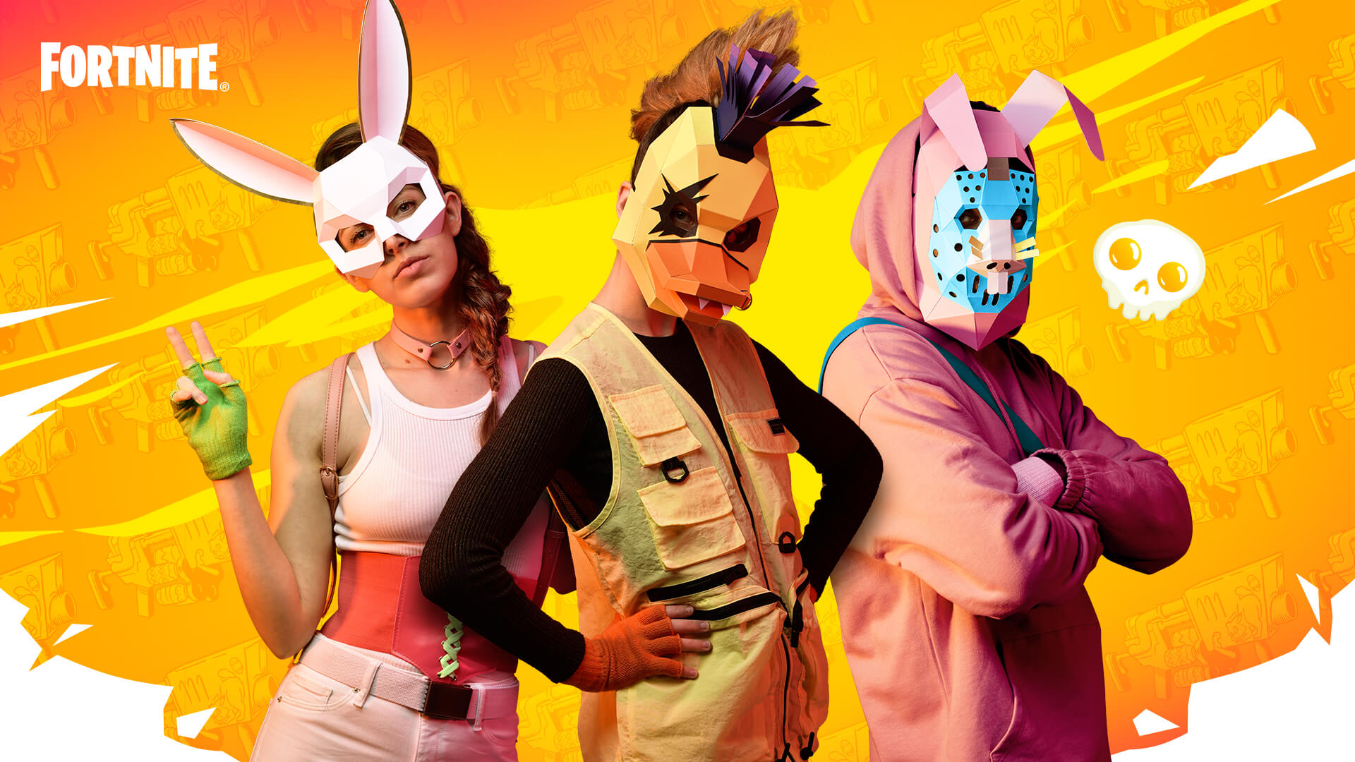 Fortnite Spring Breakout Papercraft Masks